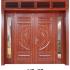 Cửa thép vân gỗ bốn cánh cân A42-NC